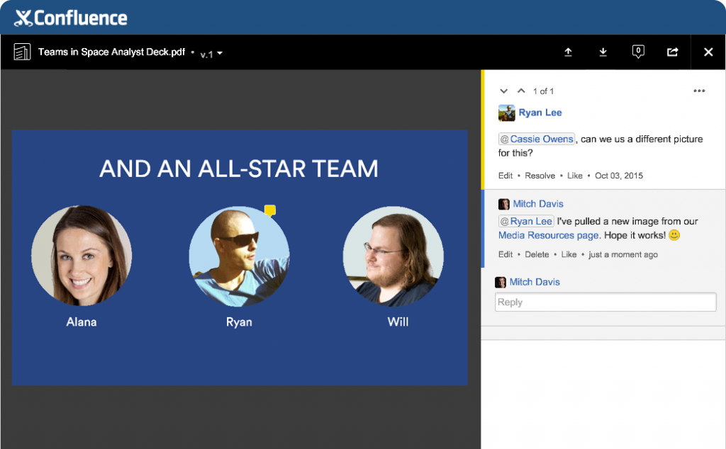 confluence features file collaboration