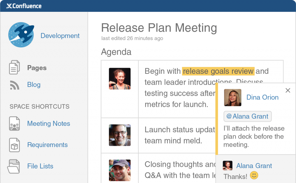 confluence overview create discuss