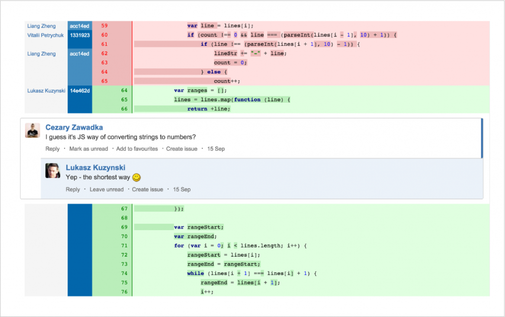 feature code review