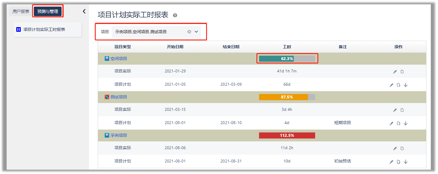 timewise report interface 5